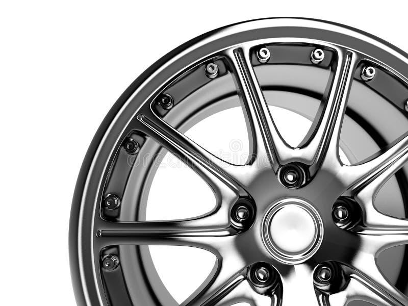 Car rim royalty free illustration