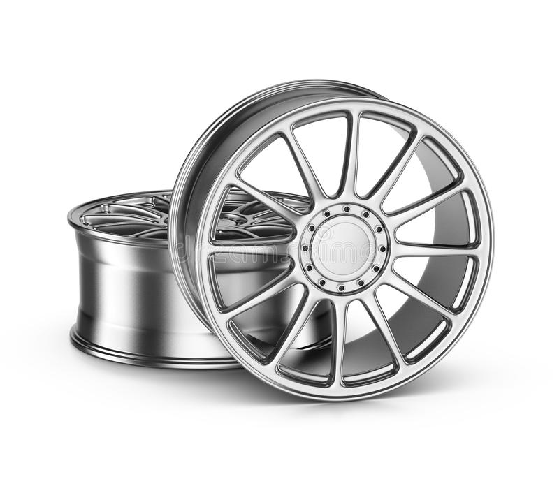 Car Rims. Two Car Rims on White Background vector illustration