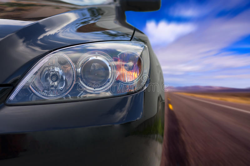Car on the road royalty free stock photos