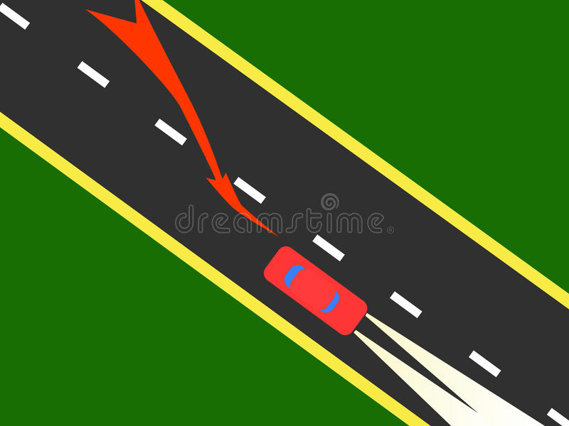 Download Car on the road. stock vector. Image of speed, racer - 16692637