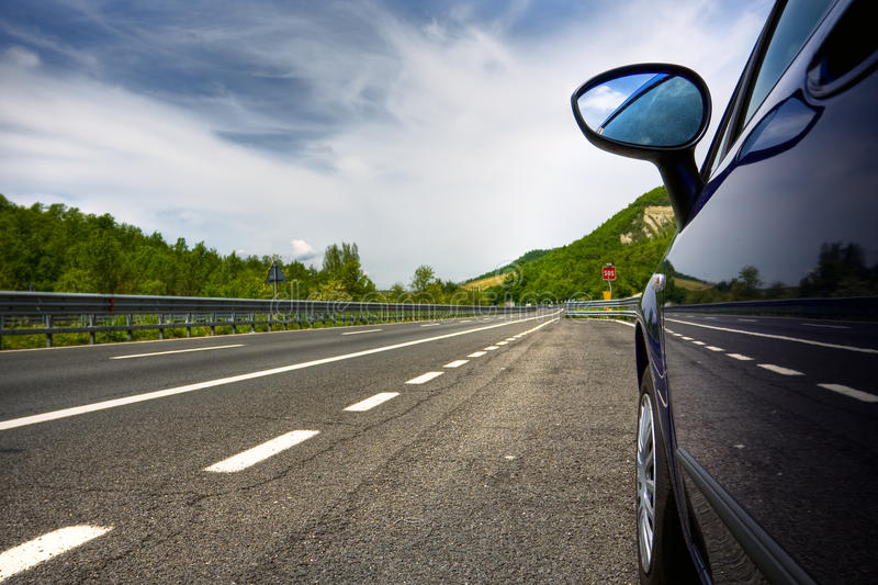 Car on a road royalty free stock photo