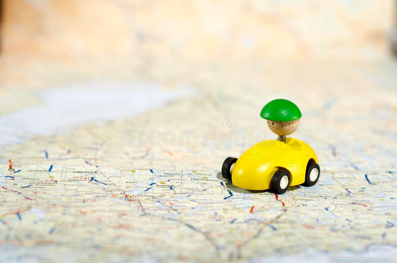 Download Car On Road Map Stock Images - Image: 11837034