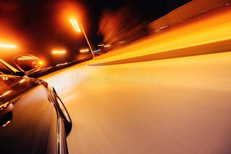 Car on the road with motion blur background. stock images