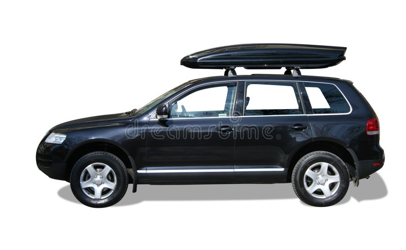 Download Car With Roof Box Stock Image   Image: 4649231