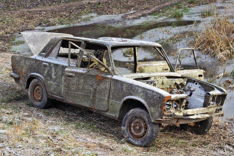 The car of the Russian gangster royalty free stock image