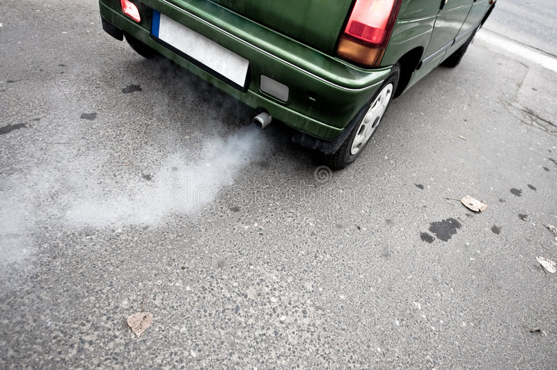 Car's exhaust pipe stock photography