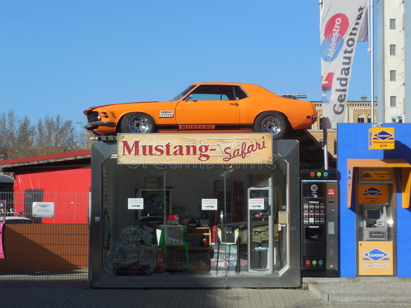 Car Safari in Berlin. Berlin offers a lot of car safaris. Here is one of them near Check Point Charlie stock photos