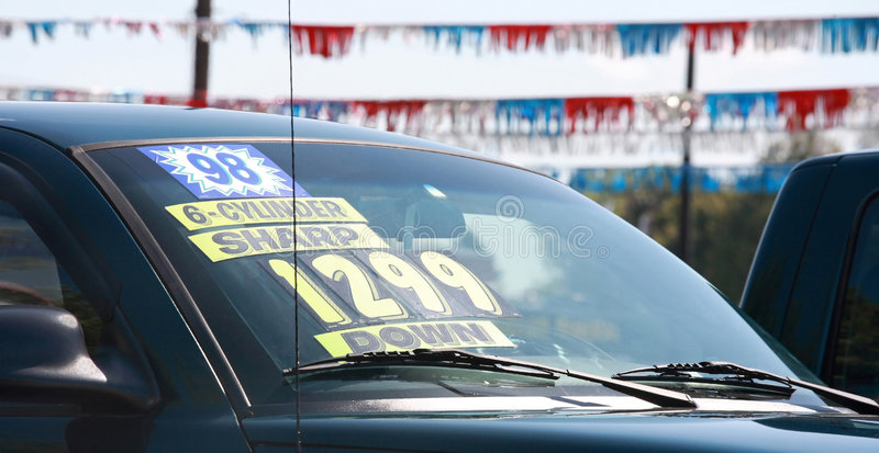 Car For Sale. Old Car For Sale on a Lot royalty free stock photography