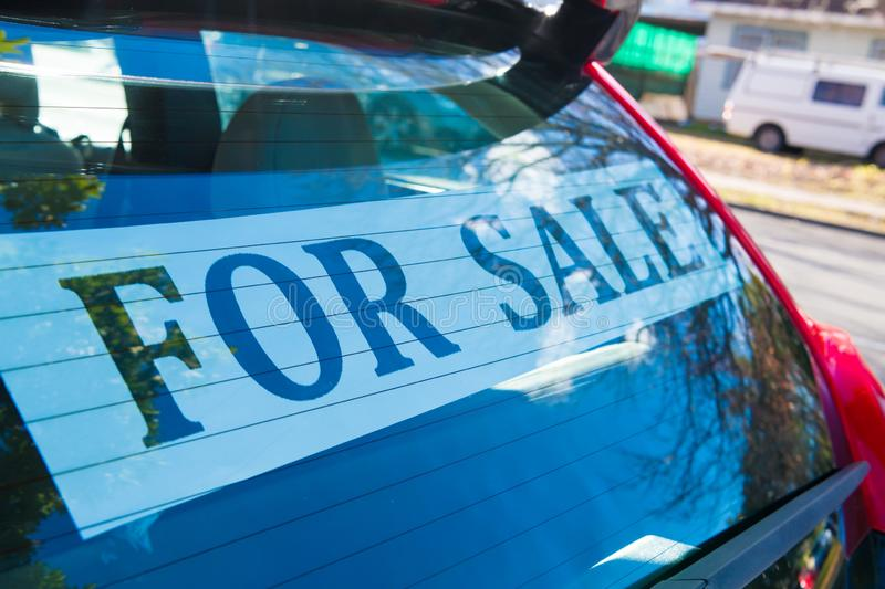 Car For Sale royalty free stock photography