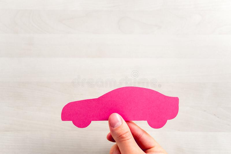 Car sale or loan, auto insurance or driving school. stock photo
