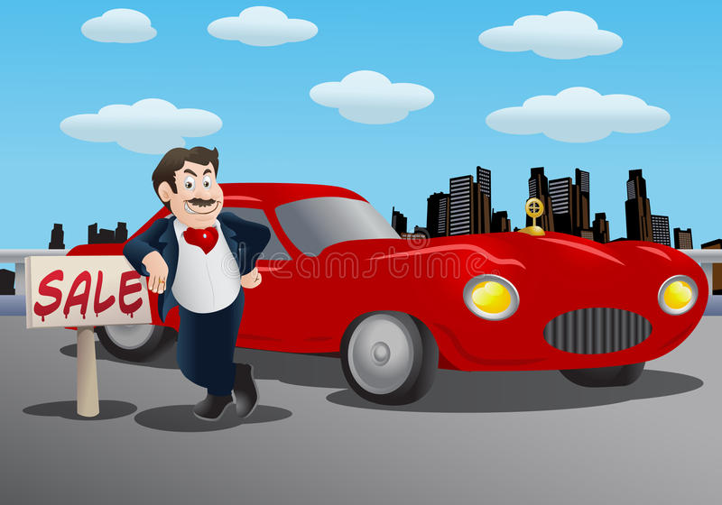 Download Car Sales man stock illustration. Image of drawing, caricature - 23662770