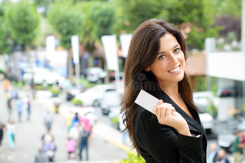 Car sales representative royalty free stock photography