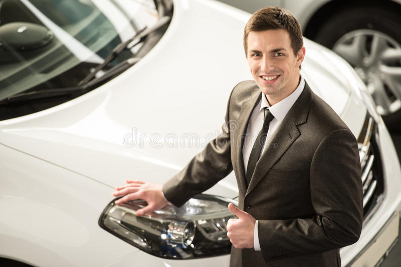 Car sales stock photography
