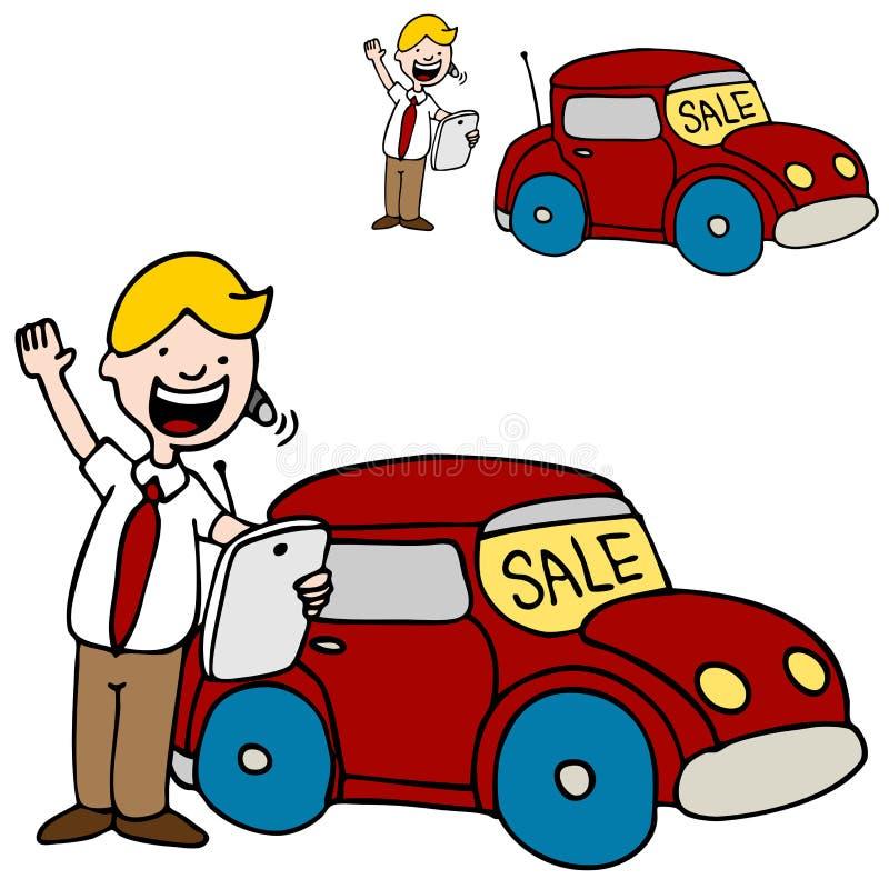 Download Car Salesman Using His Digital Tablet Device Stock Vector - Image: 21463732