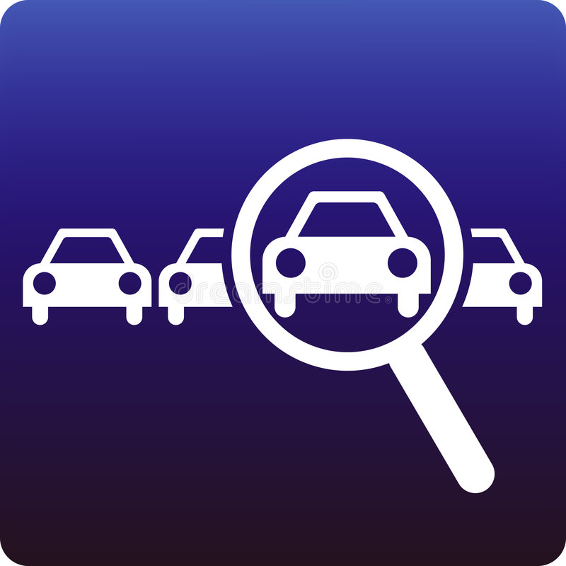 Car search royalty free illustration