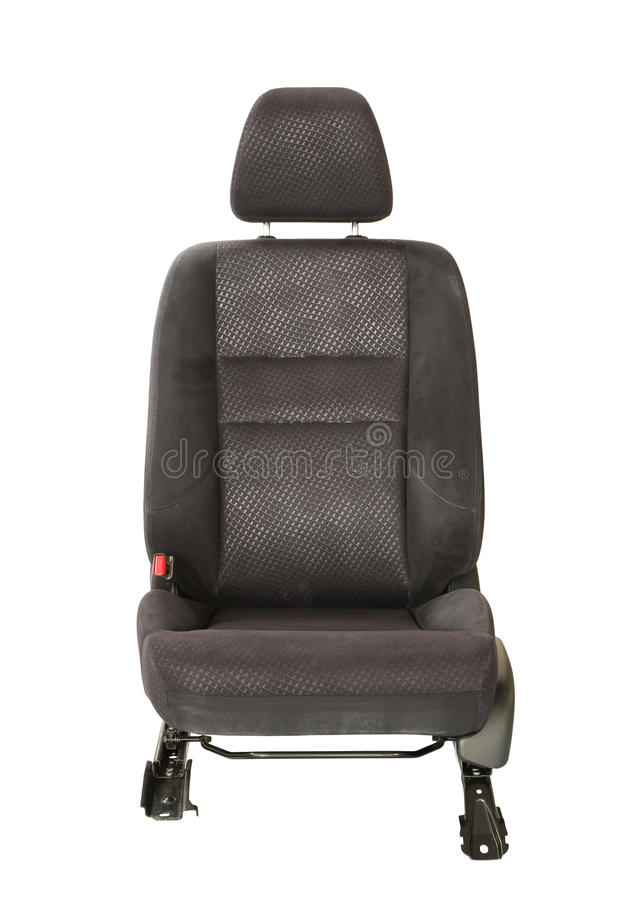 Car seat. Black car seat isolated on white background stock image
