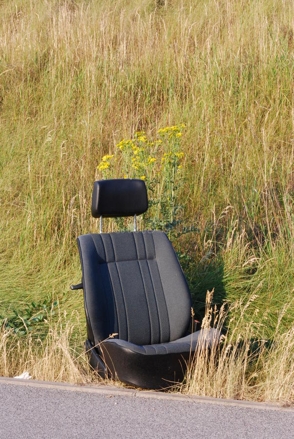 Download Car seat stock image. Image of crime, grass, curios, roadside - 26736879