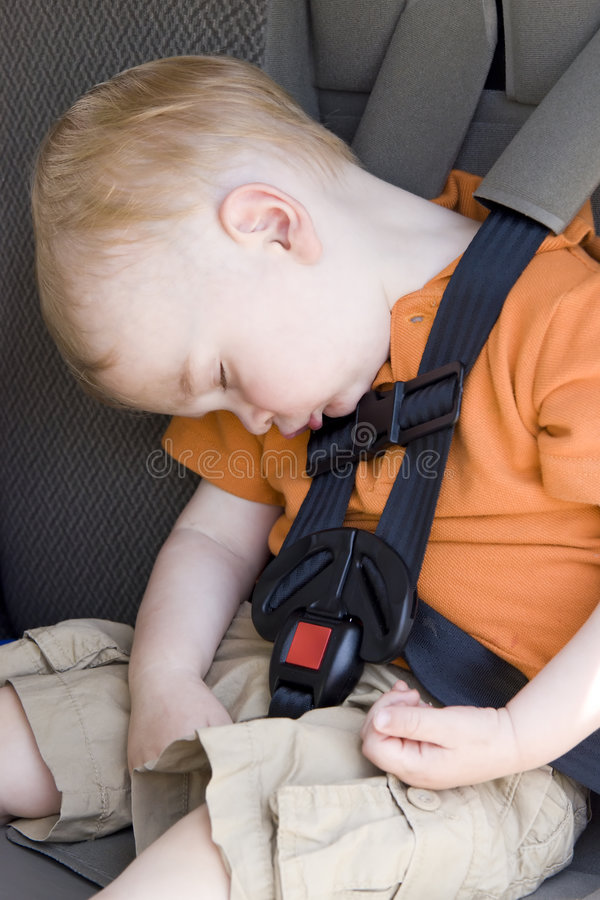 Car Seat Nap Royalty Free Stock Image