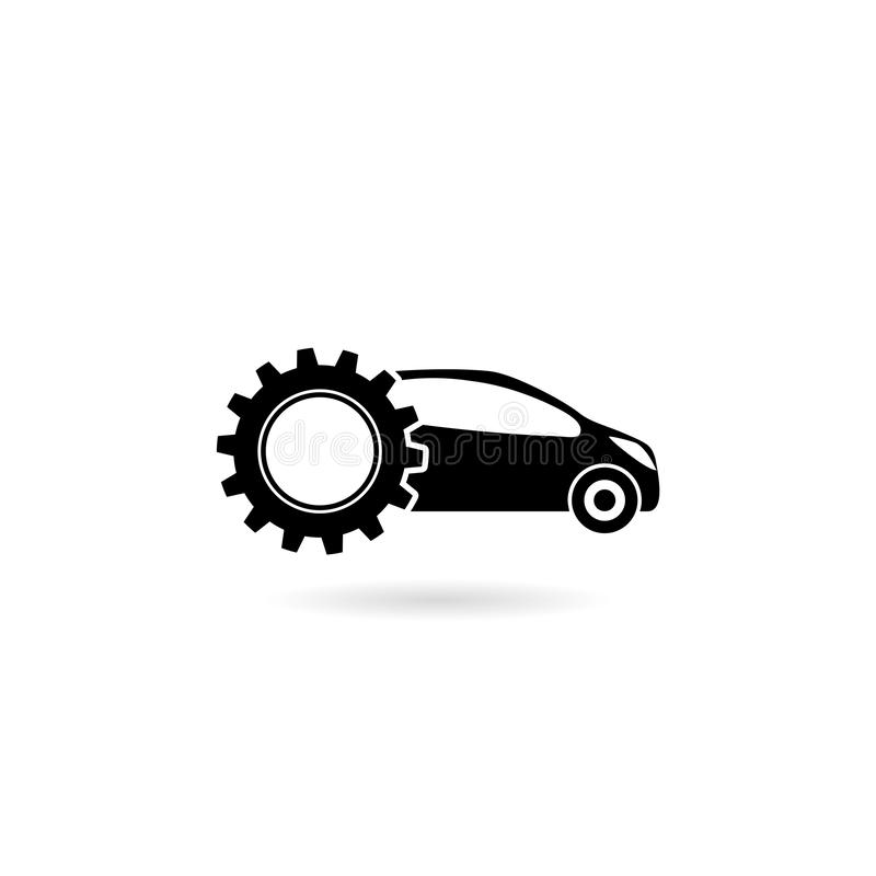 Car service icon isolated on white background stock illustration