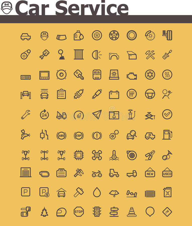 Download Car service icon set stock vector. Illustration of modern - 36384786