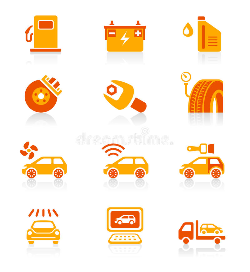 Car service icons | JUICY series stock illustration