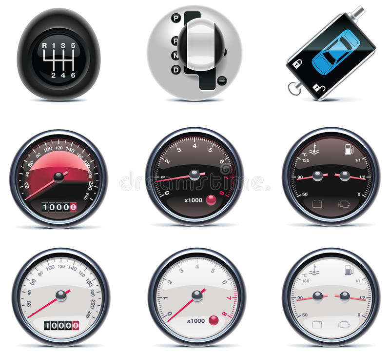 Car service icons. Part 4 vector illustration