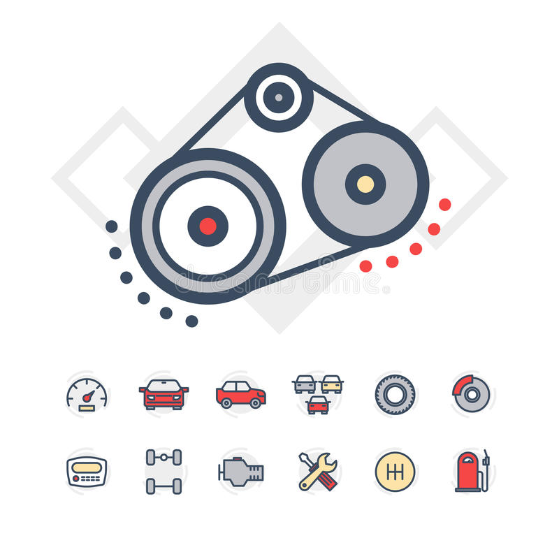 Car service icons set stock photography