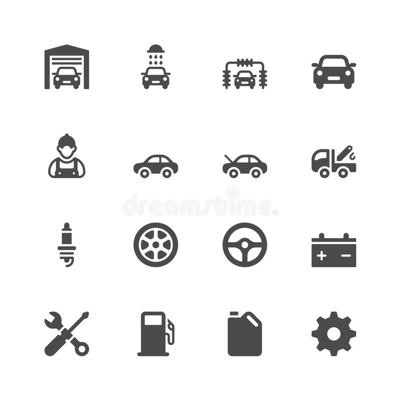 Car service icons vector illustration