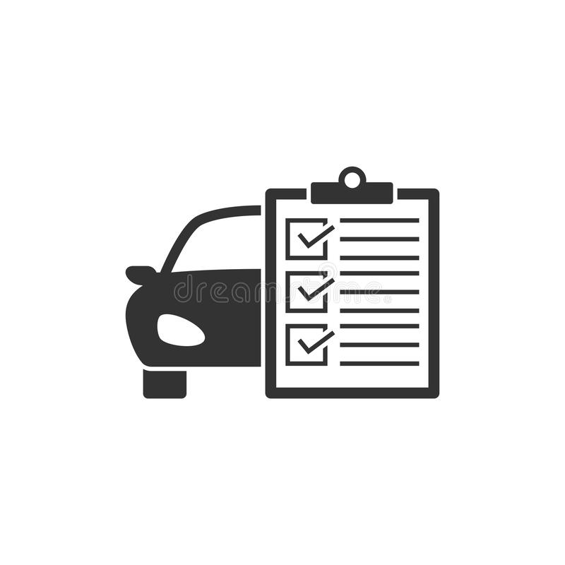 Car service list icon stock illustration