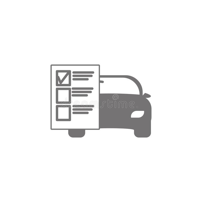 Car service list icon. On white background stock illustration