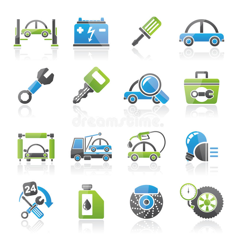 Car service maintenance icons vector illustration