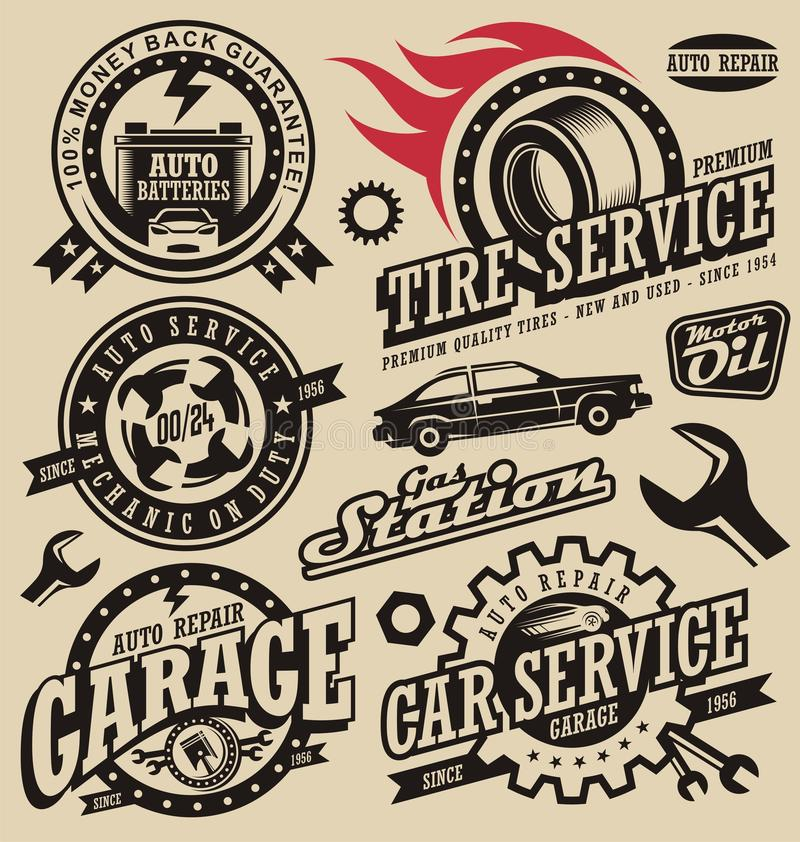 Car Service Symbols Stock Vector. Image Of Speed