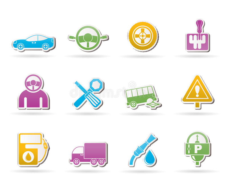 Download Car Services And Transportation Icons Royalty Free Stock Image - Image: 20763326