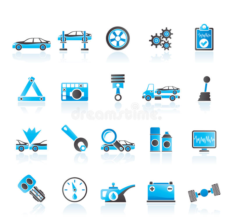 Download Car Services And Transportation Icons Stock Vector - Image: 25472028