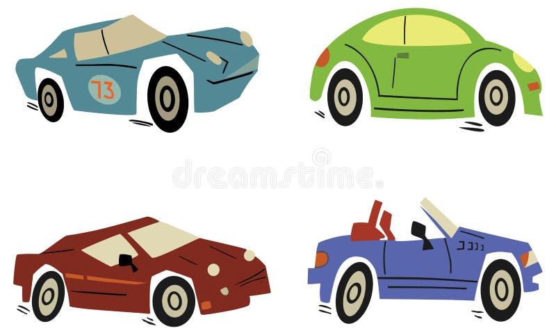 Car set. Set of cartoon cars. Vector illustration stock illustration
