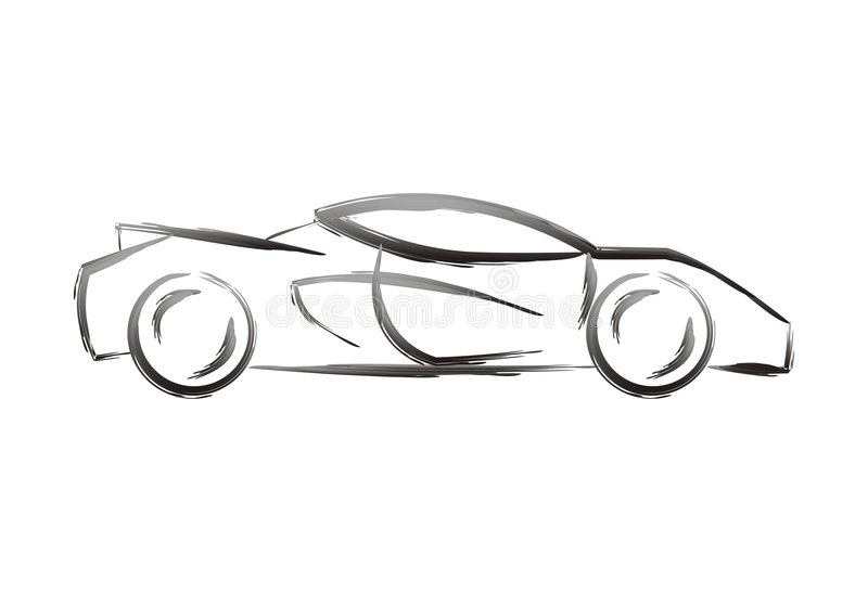 Download Car shape stock vector. Image of black, speed, concept - 1426291
