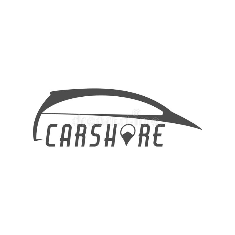 Car share logo design. Car Sharing concept. Collective usage of cars via web application. Carsharing icon, car rental. Element and symbol. Use for webdesign or vector illustration