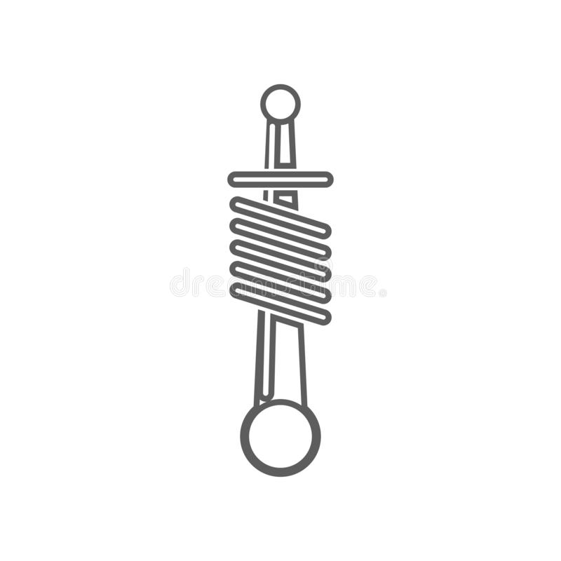 Car shock absorber icon. Element of Car repear for mobile concept and web apps icon. Outline, thin line icon for website design. And development, app stock photography