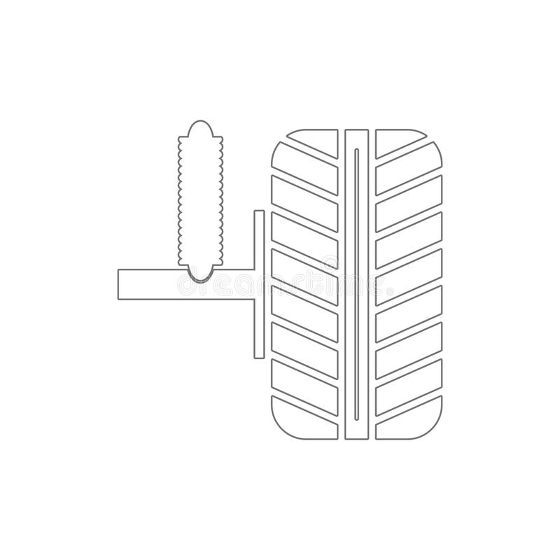 car shock absorber and wheel outline icon. Elements of car repair illustration icon. Signs and symbols can be used for web, logo, stock illustration