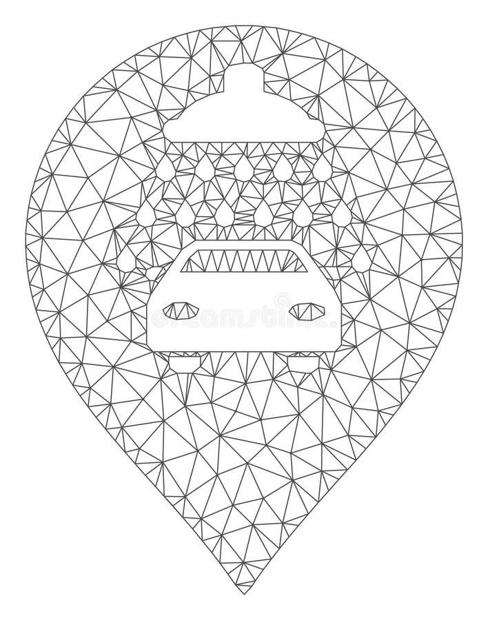Car Shower Marker Polygonal Frame Vector Mesh Illustration vector illustration