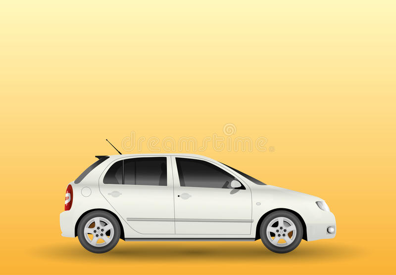 Car from side stock illustration
