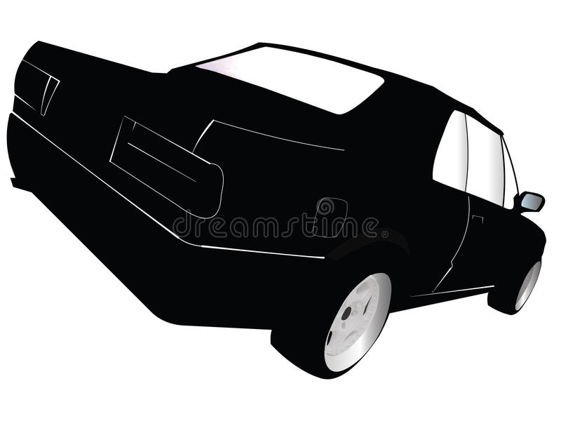 Car Silhouette royalty free stock photo
