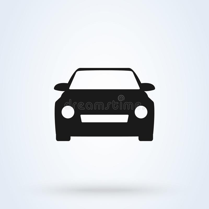 Car Simple vector modern icon design illustration stock illustration
