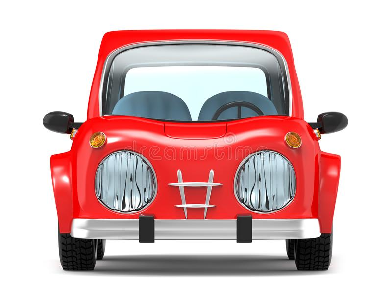 Car small cartoon front royalty free illustration