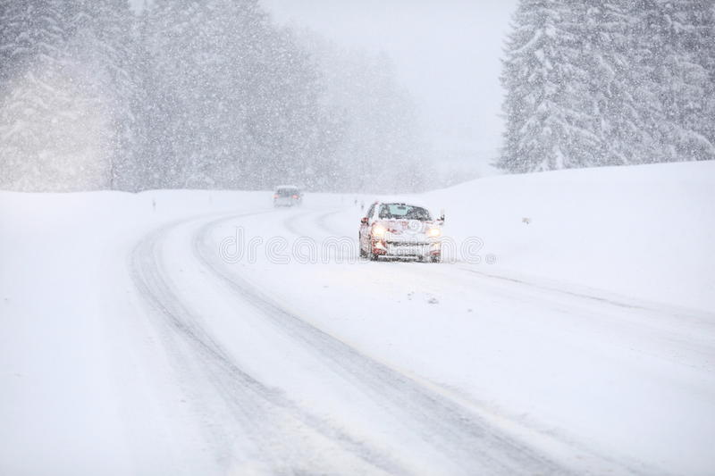 Car snow traffic. See my other works in portfolio stock photos