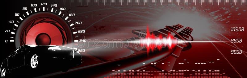 Car sound performance vector illustration
