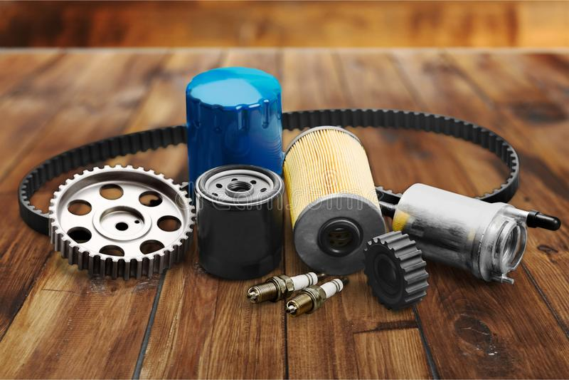 Car spare parts stock photos