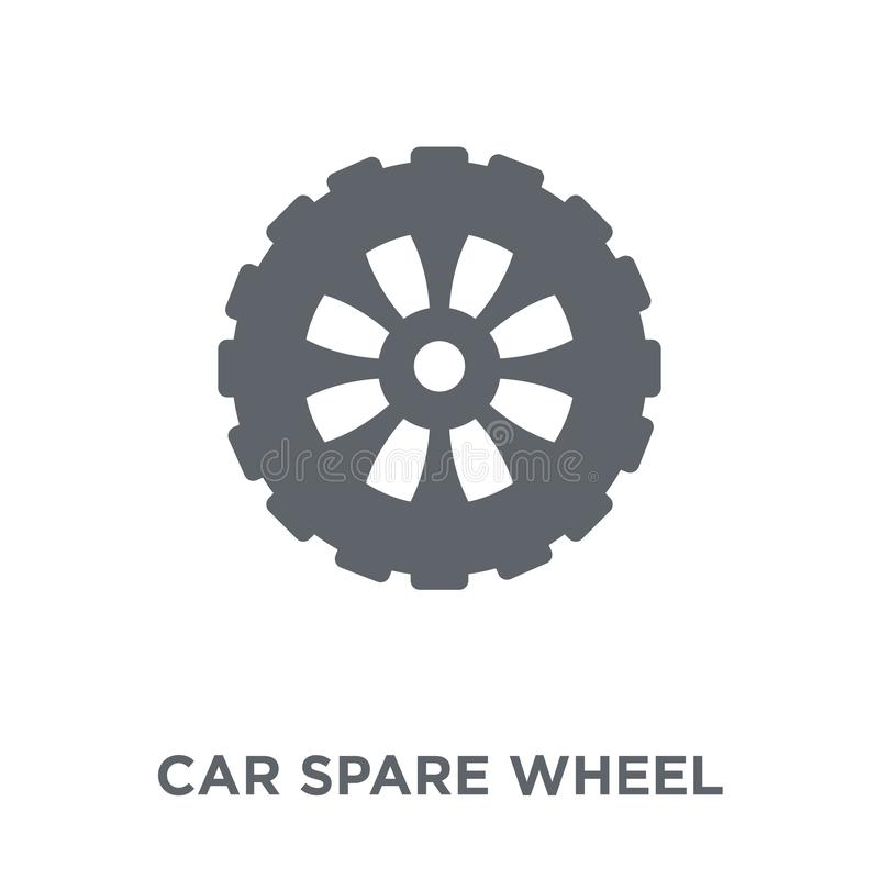 car spare wheel icon from Car parts collection. vector illustration