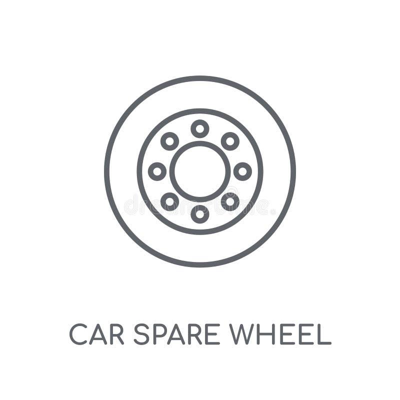 car spare wheel linear icon. Modern outline car spare wheel logo royalty free illustration