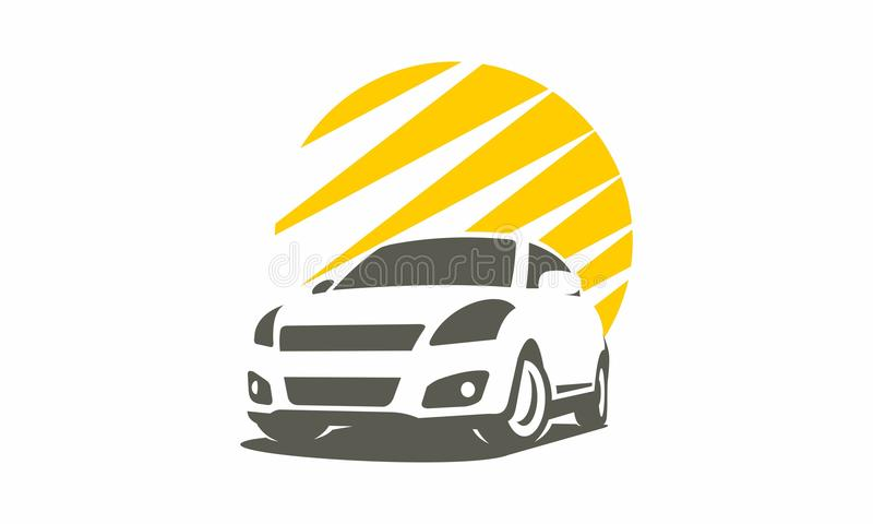 Car speed logo unique royalty free illustration